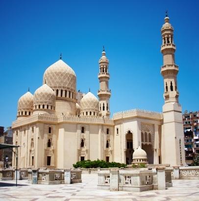 Mosque of Abu Abbas al Mursi in Alexandria, Egypt