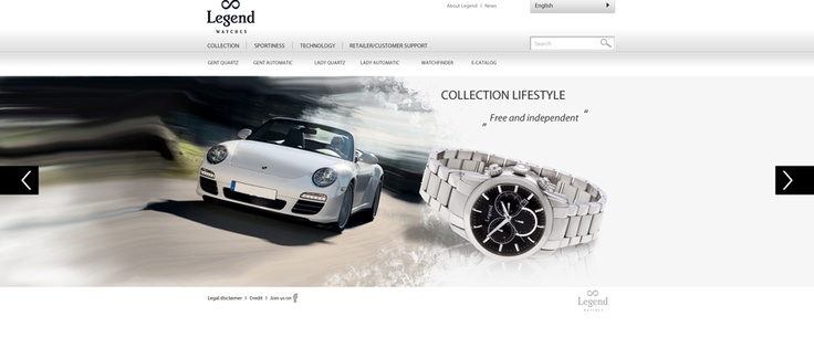 Graphic design for a new brand of watches Legend. #legend #watches #luxury #simple #site #website #design #webdesign