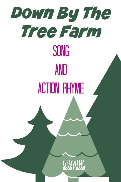 """Preschool Songs: """"Down By The Tree Farm"""" for learning about evergreens and rhyming words."""