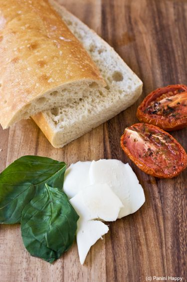 Roasted Tomatoes, Fresh Mozzarella & Basil Panini- very similar to my new found love at Starbucks!!