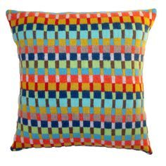 Cosy colourful knitted cushions by Gabrielle Vary