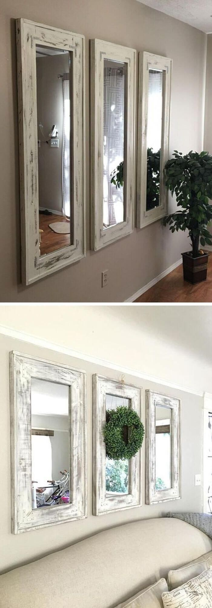 22+ Beautiful Farmhouse Mirror Decor Ideas & Designs For ...