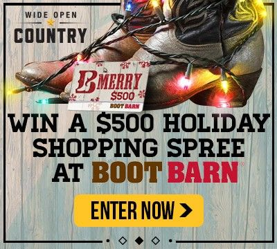 Enter the Wide Open Country $500 Boot Barn Giveaway!