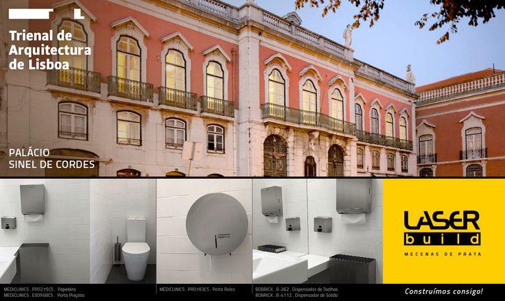 A #LaserBuild apoia a Trienal de Arquitectura de Lisboa e o projecto de reabilitação do Palácio de Sinel de Cordes.  #Trienal #arquitectura #construção #wc #mediclinics #bobrick