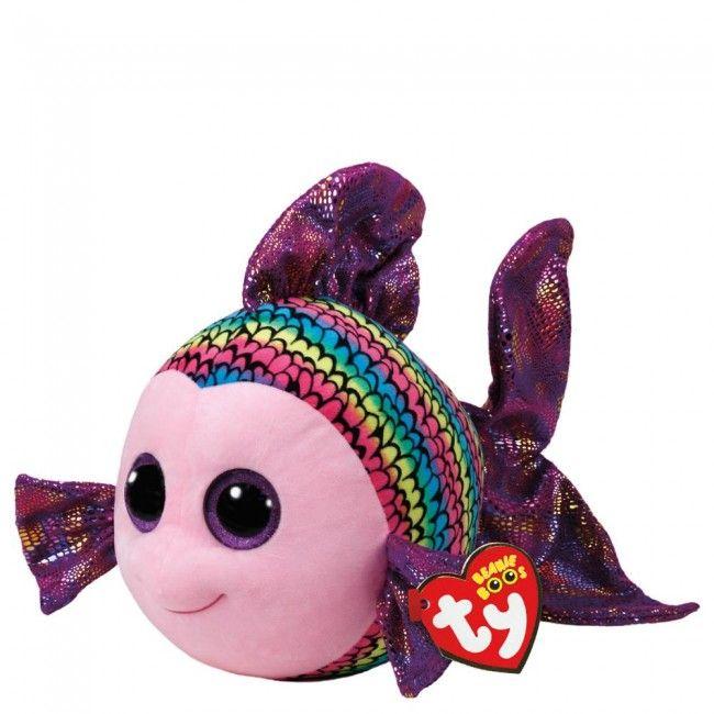 Ty - Beanie Boos Flippy Le poisson multicolor 40 cm - Castello | Jeux et Jouets