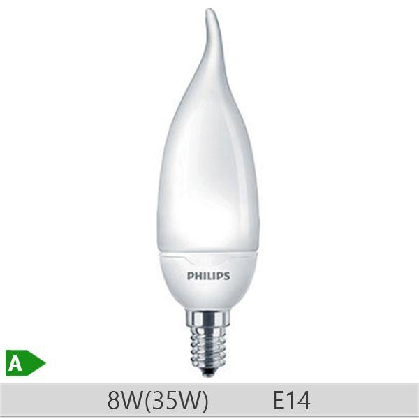 Bec economic lumanare Philips Softone candle 8W, E14 BXS39, 10000 ore, lumina calda http://www.etbm.ro/becuri-economice