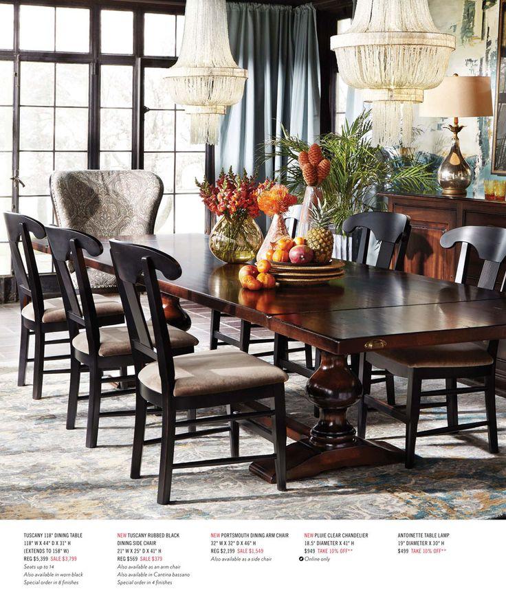 Arhaus August 2015 Catalog Dining Room FurnitureDining