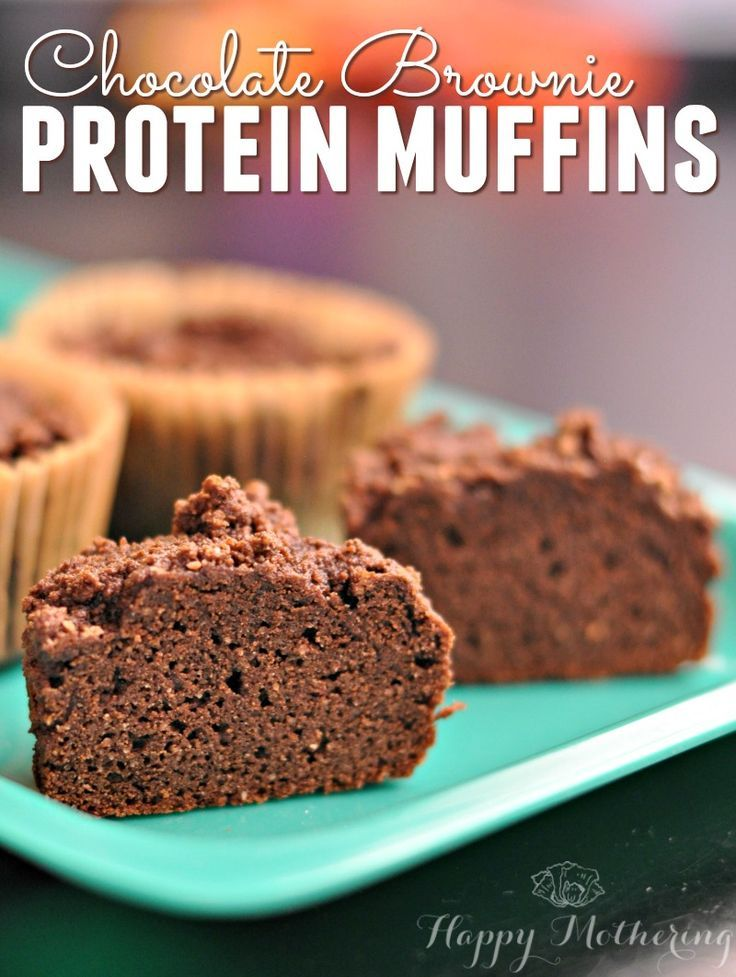 Tired of making messy protein shakes? Give these Chocolate Brownie Protein Muffins a try. They're much easier to take on the go when you head to the gym!