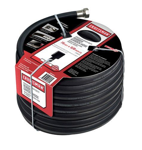 Emblem Identify: Craftsman *Hose Diameter: five/eight in. *Hose Duration: 75 feet. *Hose Kind: Lawn *Product Kind: Hose *Kink Resistant: Sure *Hose Subject material: Rubber *Burst Drive: 500 psi *Installing Coupling Subject material: Brass *Reel Incorporated: No *Grade: Top rate *Overwhelm... #Craftsman, #GardenHose