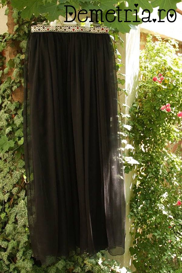 Black silck Demetria skirt
