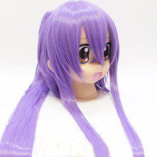 Классический фиолетовый длинный хвост косой пробор челка моды косплей костюм парик, 895, Парик Cos Классический Бесплатная доставка