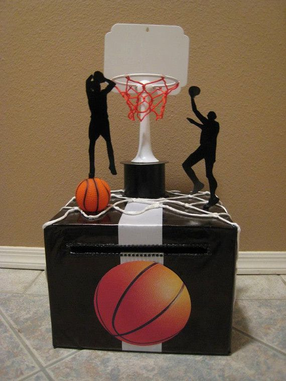Birthday Party Basketball Black White  Card by lisaspaperparrodise