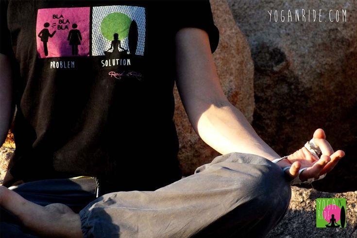 Yoga solution t-shirt now for sale! www.yoganride.com