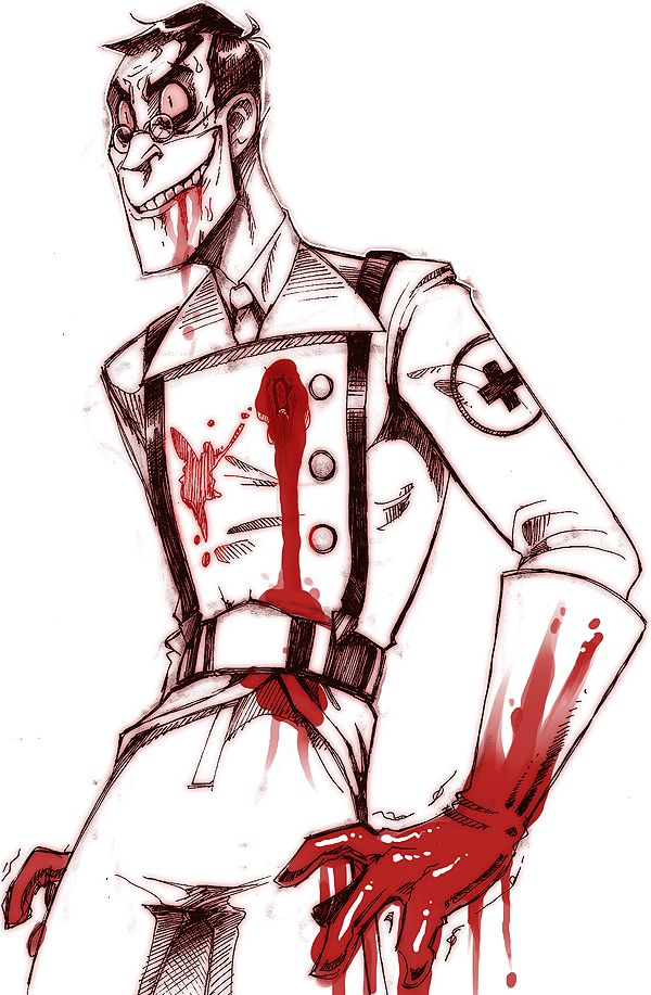 TF2 Medic he reminds me of Dr.Richtofen from black ops zombies