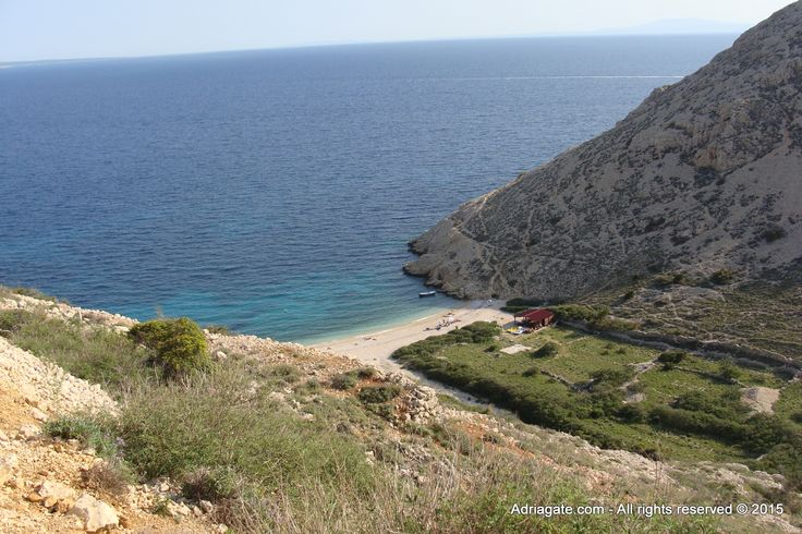 Potovosce beach is located on the east coast of the island of Krk in a small village Vrbnik.