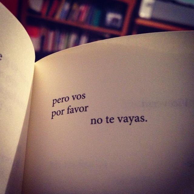 Vos, quedate, por favor