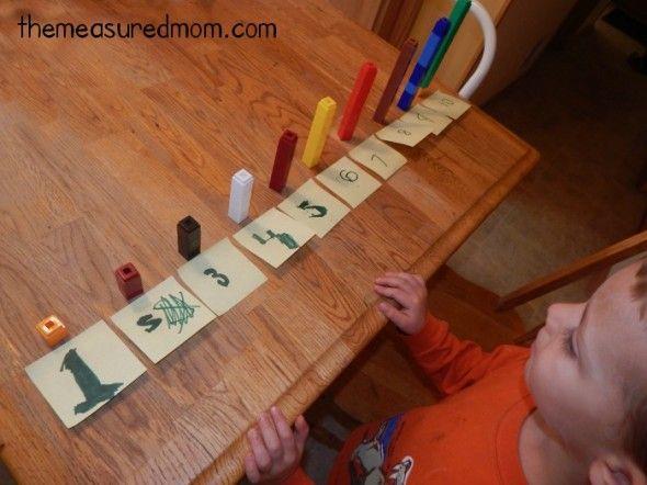 Representación de los números.  Actividades con juegos de construcción.