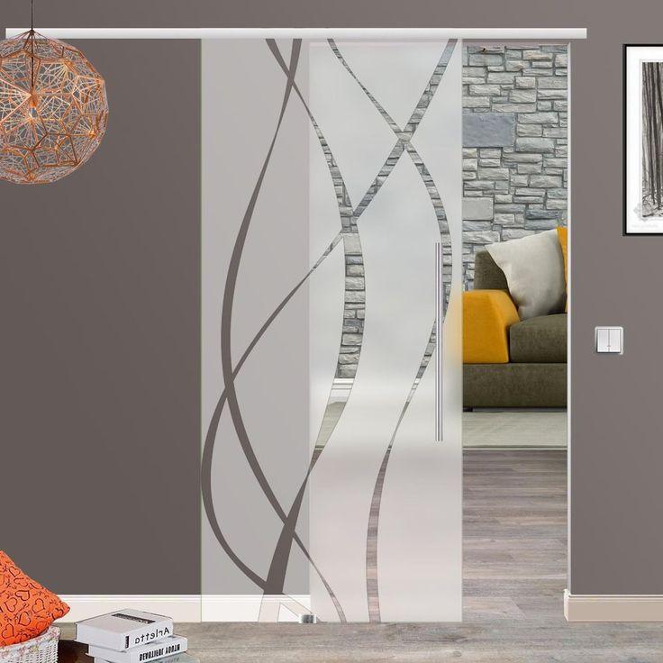 Soft Stop Glasschiebetür Glas Schiebetür 775/900/1025x2050mm o.2175mm M6 in Heimwerker, Fenster, Türen & Treppen, Türen   eBay!
