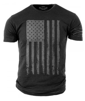 Grunt Style #America - Grey  Show your support with this Grey #American #Flag Shirt by #GruntStyle   Veterans Supporting Veterans  Squared Away Surplus supplies #tactical #gear and #apparel made by #Veterans themselves!  www.squaredawaysurplus.com