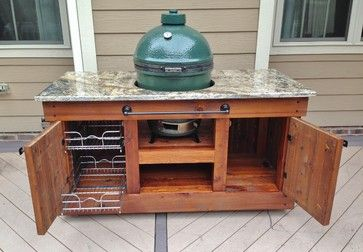 Big Green Egg Table Design Ideas, Pictures, Remodel and Decor