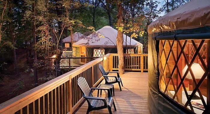 This Virginia Park Has A Yurt Village That S Absolutely To Die For In 2020 Pacific Yurts Outdoor Vacation Resort Cabins Yert | illustration showing an interior of a typical mongolian yurt. pinterest