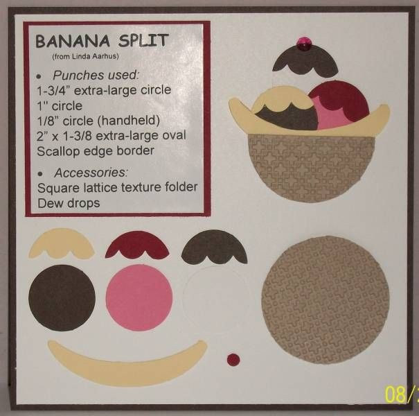 Punch Art Recipe - Banana Split by Muffin's Mama - Cards and Paper Crafts at Splitcoaststampers