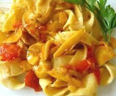 How to prepare Pasta with ovoli mushrooms. Recipe in the kitchen