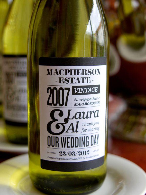 Wedding Wine Label by Carlos Chavez, via Behance