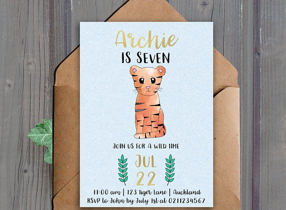 Printable birthday party invitation 5x7 inches  This listing is for a DIGITAL DOWNLOAD of the above invitation. (No physical item will be shipped to you)  *Note the gold elements wont actually print shiny  Turnaround time to receive your files is up to 24 hours  ★ HOW TO ORDER: ★  - Add this item to your cart -In the Notes to seller section include:  - The name of the birthday child - The age of the birthday child - The date of the party - The time of the party - The address of the party…