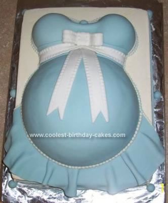 Homemade  Pregnant Belly Baby Shower Cake: i started this Pregnant Belly Baby Shower Cake with all the cakes: *Base Cake(11 x 15 x 2 Wilton Performance Pan) can use two standard cake mixes or double