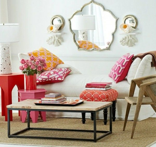 moroccan-living-room-wall-mirror-pink-textiles-600-x-566.jpg (600×566)