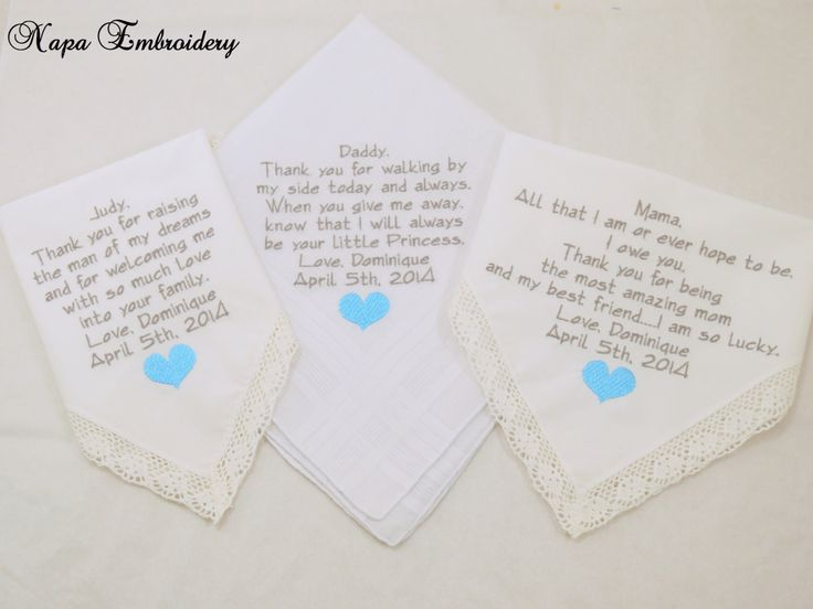 Wedding Handkerchiefs For The Family: 50 Best Embroidered Wedding Handkerchief Mother Bride