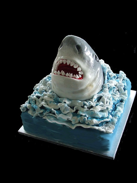 shark cake by cakes by samantha, via Flickr