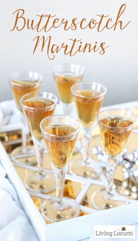 Butterscotch Martini Recipe that tastes like an adult version of Harry Potter's Butterbeer! This tasty cocktail is the perfect drink for a holiday celebration or everyday party. Enjoy this yummy happy hour drink recipe by @livinglocurto