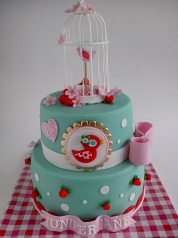 How to make this cute birdcage, yes it's made with fondant, looks amazing!!!