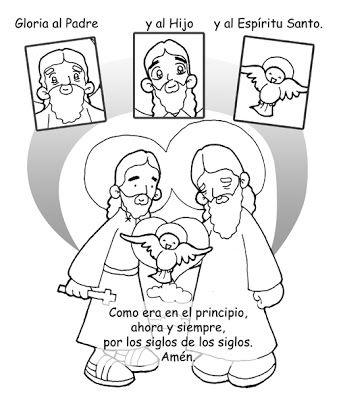Dibujos para catequesis: GLORIA AL PADRE - ORACIÓN