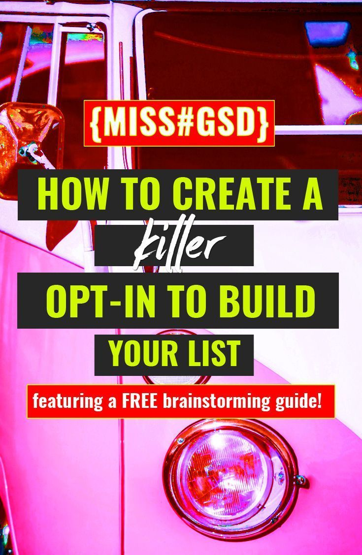 So you wanna build an email list + you know that if people are going to give you their email address, you need to have a super-sweet incentive to offer in exchange. But creating the perfect opt-in that your ideal client will swoon for isn't exactly simple… UNTIL NOW!  This post breaks down the types of opt-ins you can offer as well as what kind of content you could generate to create THE perfect opt-in + build an email list full of quality prospects.