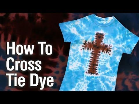 How to Cross Tie Dye Shirt. @Hannah Mestel Mestel Rottschafer put this into the idea vault for VBS?