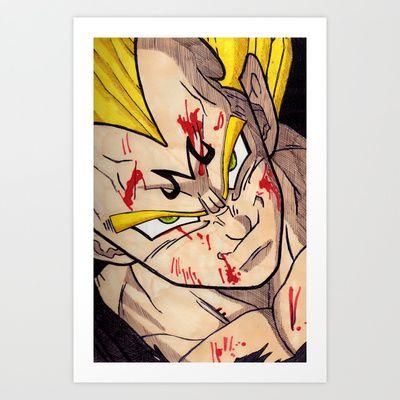 Vegeta Art Print by DeMoose_Art - $20.00