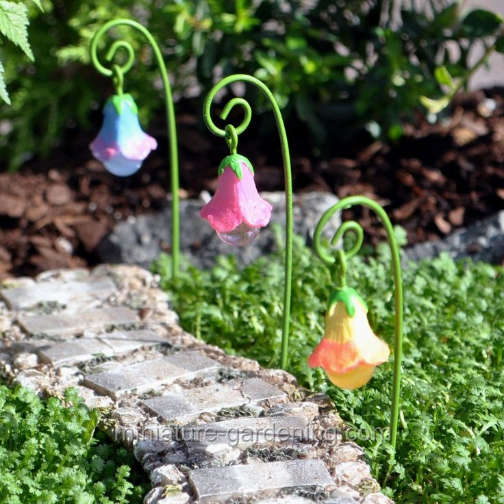 #fairy  #gardenMiniature Gardening - Glow Flowers, 3 Piece Set > $6.99