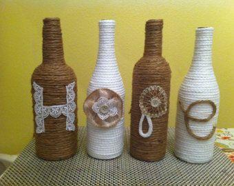 Ucycled vaso cerveza botellas de amor envuelto por StacysHappyPlace