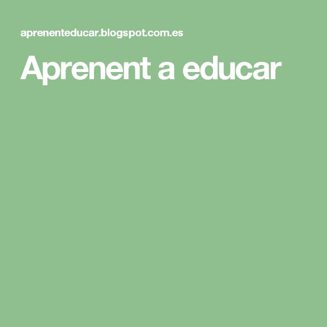 Aprenent a educar
