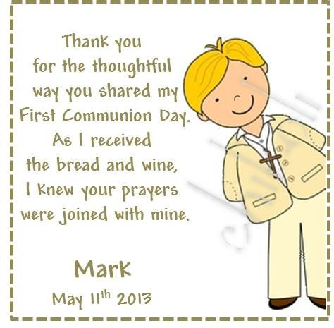 First Communion favors tags by Chikoli on Etsy, $5.00