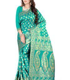 Buy rama plain art_silk saree with blouse banarasi-silk-saree online