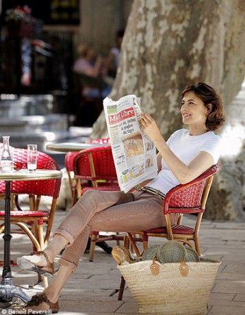 Mode tendance look ines de la fressange p82 83 - Ines de la Fressange, party de campagne - Elle