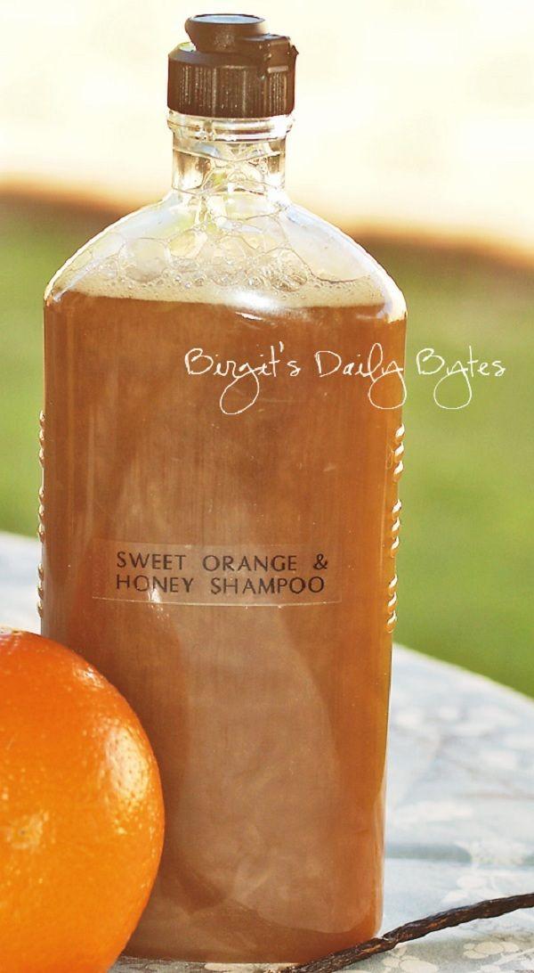 Orange And Vanilla Honey Shampoo  I definitely want to make this. I really like this recipe.