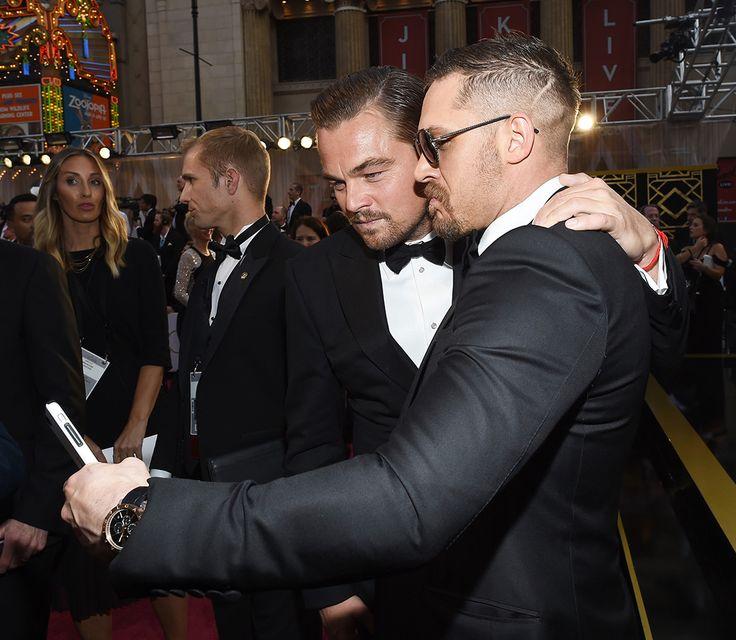 Oscar selfies with the boys.