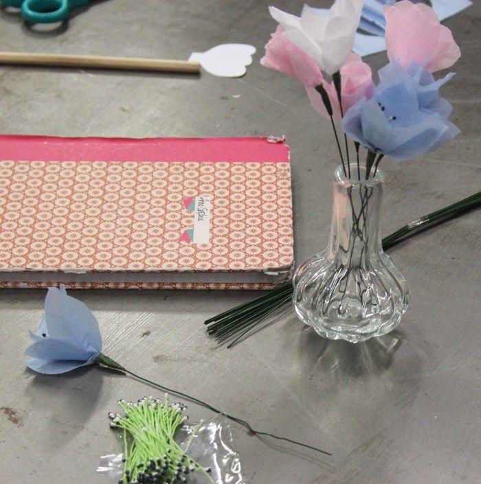 Fleur en papier - Afterwork spécial blogueuses - DécoAvenue - Cabinet de curiosités créatives
