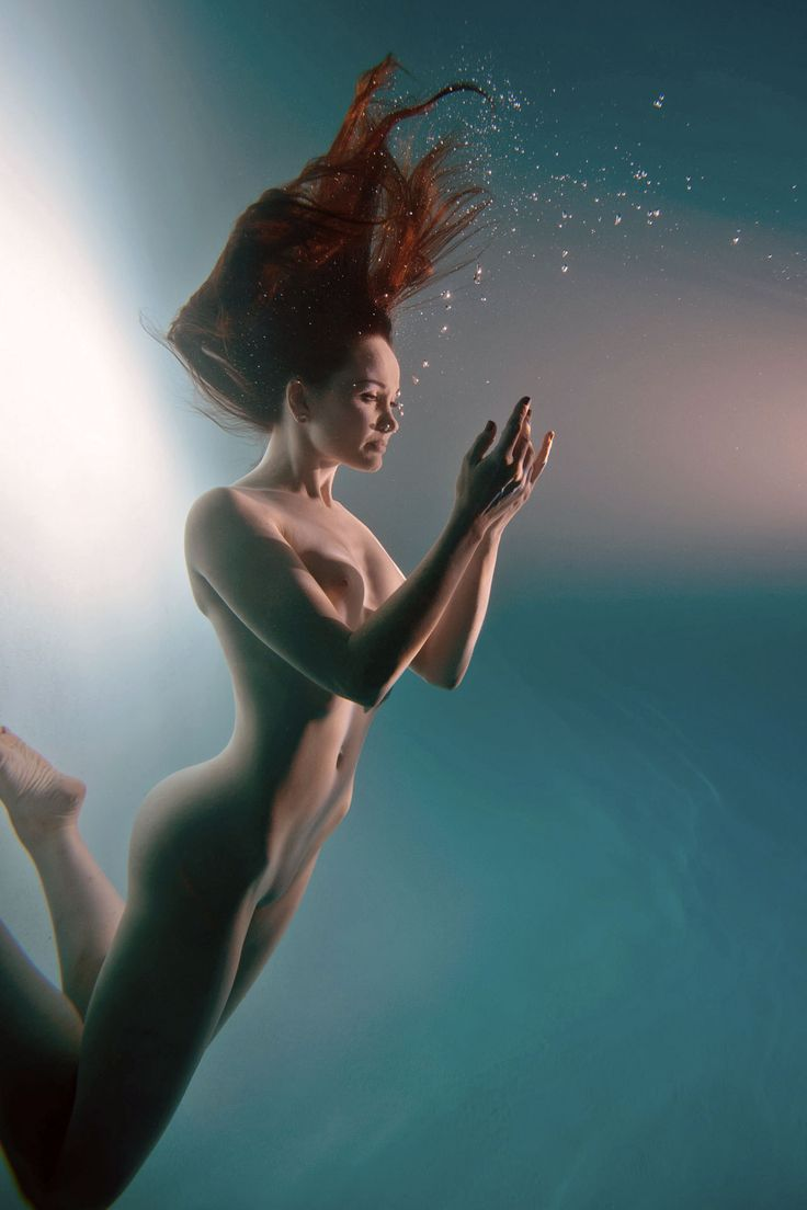 artistic underwater nude
