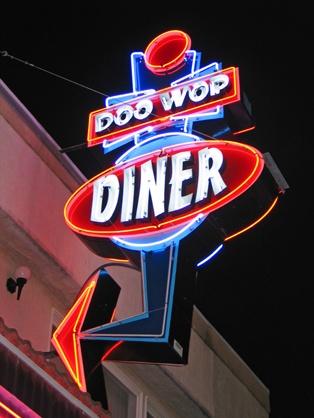 Doo Wop Diner on the Wildwoods Boardwalk